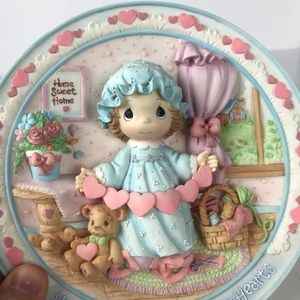 Precious Moments sculpted plate collectible